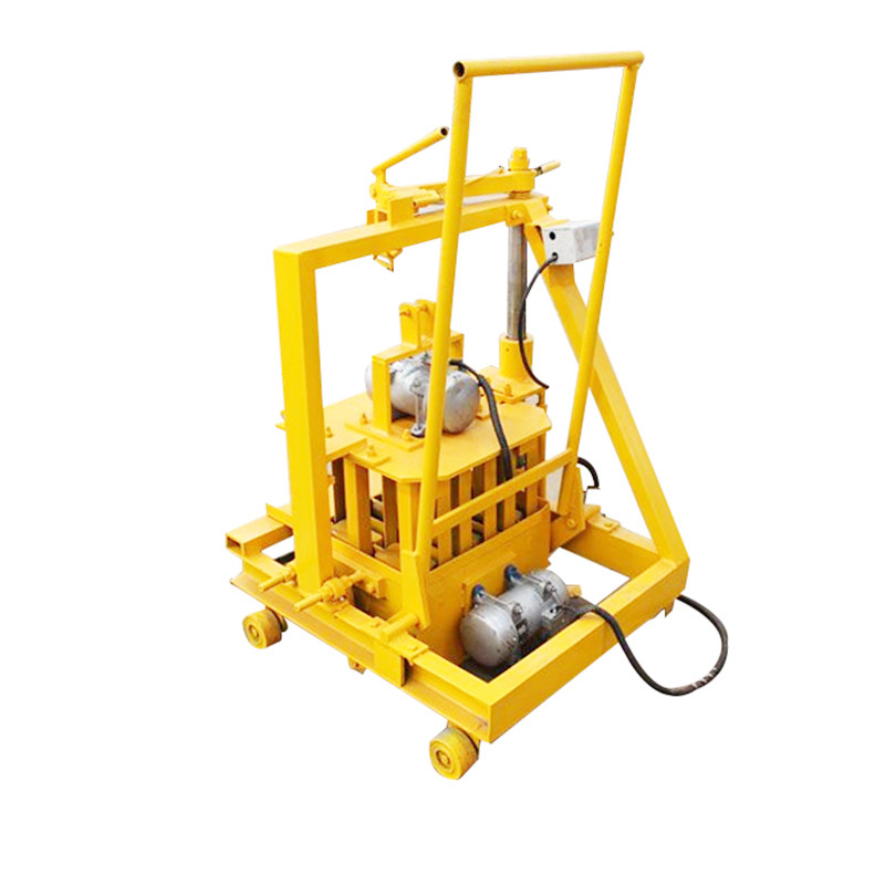 QT40-3C small scale family used solid brick molding machine sand cement block brick making machine for sale