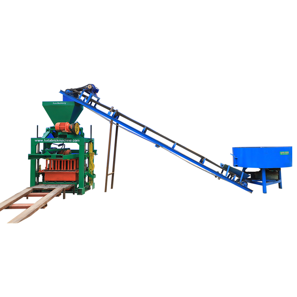QT40C-1 semi automatic cement hollow block production line